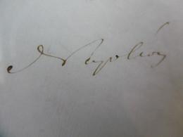 AUTOGRAPHE NAPOLEON III EMPEREUR 1865 ELEVATION A LA DIGNITE DE SENATEUR DU GENERAL DE DIVISION D ALLONVILLE - Autographs