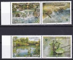 SERBIA 2021,EUROPEAN NATUR PROTECTION,WATHER,LAKE,NATUR REZERVAT,VIGNETTE,,,MNH - Serbia