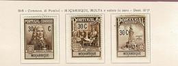 Moçambique, 1925, # 1/3, Imposto Postal Porteado, MH - Mosambik