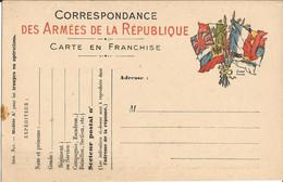 Carte Franchise Militaire  Drapeaux - FM-Karten (Militärpost)