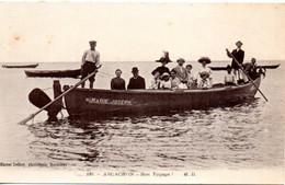 CPA ARCACHON 33 Bon Voyage! Barque Marie Joseph - Arcachon
