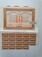"""GRECE GREECE  SHARE """"COMPAGNIE INDUSTRIELLE D' ELECTRICITE"""". ATHENS 1931 WITH 19 COUPONS. VERY GOOD - Unclassified"""