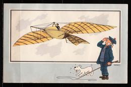 """TINTIN / Chromo """"Voir Et Savoir"""" Par Hergé : Aviation Origine à 1914 N° 4 - Editions Du LOMBARD - Autres"""