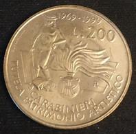 ITALIE - ITALIA - 200 LIRES 1999 - Carabinier Protecteur Du Patrimoine Culturel - KM 218 - 200 Lire