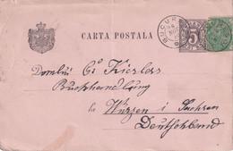 ROUMANIE 1890  ENTIER POSTAL/GANZSACHE/POSTAL CARTE DE BUCAREST - Entiers Postaux