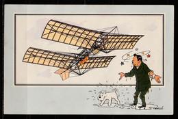 """TINTIN / Chromo """"Voir Et Savoir"""" Par Hergé : Aviation Origine à 1914 : N° 12 - Editions Du LOMBARD - Autres"""