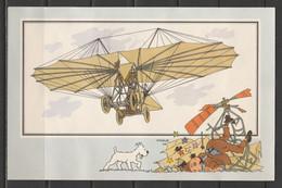 """TINTIN / Chromo """"Voir Et Savoir"""" Par Hergé : Aviation Origine à 1914 : N° 14 - Editions Du LOMBARD - Autres"""