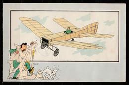 """TINTIN / Chromo """"Voir Et Savoir"""" Par Hergé : Aviation Origine à 1914 : N° 19 - Editions Du LOMBARD - Autres"""