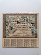 """GRECE GREECE  SHARE """"LINARGY PROCESSING FACTORY SOCIETE ANONYME"""".THESSALONIKI 1922 WITH 20 COUPONS. VERY GOOD CON. - Zonder Classificatie"""
