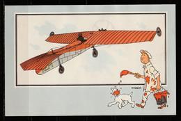 """TINTIN / Chromo """"Voir Et Savoir"""" Par Hergé : Aviation Origine à 1914 : N° 21 - Editions Du LOMBARD - Autres"""