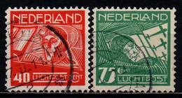 OLANDA - 1928 - EFFIGIE DEGLI AVIATORI KOPPEN ED HOPP - USATI - Airmail