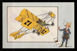 """TINTIN / Chromo """"Voir Et Savoir"""" Par Hergé : Aviation Origine à 1914 : N° 32 - Editions Du LOMBARD - Autres"""