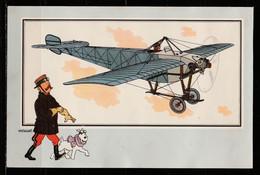 """TINTIN / Chromo """"Voir Et Savoir"""" Par Hergé : Aviation Origine à 1914 : N° 35 - Editions Du LOMBARD - Autres"""