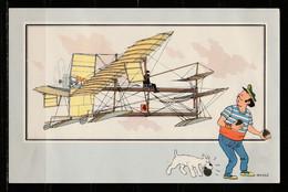 """TINTIN / Chromo """"Voir Et Savoir"""" Par Hergé : Aviation Origine à 1914 : N° 36 - Editions Du LOMBARD - Autres"""