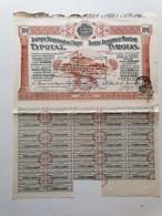 "GRECE GREECE  SHARE ""SOCIETE ANONYME DE MINOTERIE "".EVROTAS 1925 WITH 37 COUPONS  . VERY GOOD CON. - Zonder Classificatie"