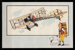 """TINTIN / Chromo """"Voir Et Savoir"""" Par Hergé : Aviation Origine à 1914 : N° 37 - Editions Du LOMBARD - Autres"""