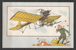 """TINTIN / Chromo """"Voir Et Savoir"""" Par Hergé : Aviation Origine à 1914 : N° 40 - Editions Du LOMBARD - Autres"""