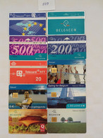 = BELGIUM - 10 DIFFERENT PHONECARDS  = LOT NR. 529 - With Chip