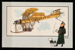 """TINTIN / Chromo """"Voir Et Savoir"""" Par Hergé : Aviation Origine à 1914 : N° 41 - Editions Du LOMBARD - Autres"""