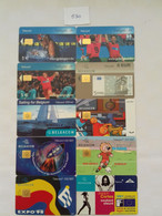 = BELGIUM - 10 DIFFERENT PHONECARDS  = LOT NR. 530 - With Chip