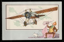 """TINTIN / Chromo """"Voir Et Savoir"""" Par Hergé : Aviation Origine à 1914 : N° 43 - Editions Du LOMBARD - Autres"""