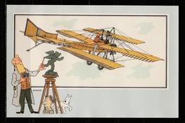 """TINTIN / Chromo """"Voir Et Savoir"""" Par Hergé : Aviation Origine à 1914 : N° 45 - Editions Du LOMBARD - Autres"""