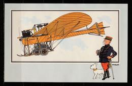 """TINTIN / Chromo """"Voir Et Savoir"""" Par Hergé : Aviation Origine à 1914 : N° 46 - Editions Du LOMBARD - Autres"""