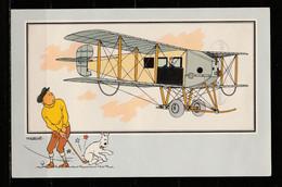 """TINTIN / Chromo """"Voir Et Savoir"""" Par Hergé : Aviation Origine à 1914 : N° 47 - Editions Du LOMBARD - Autres"""