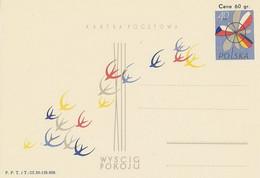 Poland Postcard Cp 165: Sport Cycling Peace Race 1959 - Enteros Postales