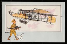 """TINTIN / Chromo """"Voir Et Savoir"""" Par Hergé : Aviation Origine à 1914 : N° 49 - Editions Du LOMBARD - Autres"""
