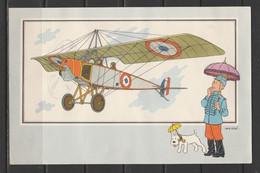 """TINTIN / Chromo """"Voir Et Savoir"""" Par Hergé : Aviation Origine à 1914 : N° 50 - Editions Du LOMBARD - Autres"""