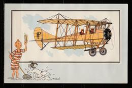 """TINTIN / Chromo """"Voir Et Savoir"""" Par Hergé : Aviation Origine à 1914 : N° 51 - Editions Du LOMBARD - Autres"""
