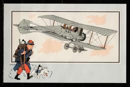 """TINTIN / Chromo """"Voir Et Savoir"""" Par Hergé : Aviation Origine à 1914 : N° 53 - Editions Du LOMBARD - Autres"""