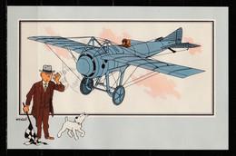 """TINTIN / Chromo """"Voir Et Savoir"""" Par Hergé : Aviation Origine à 1914 : N° 54 - Editions Du LOMBARD - Autres"""