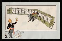 """TINTIN / Chromo """"Voir Et Savoir"""" Par Hergé : Aviation Origine à 1914 : N° 55 - Editions Du LOMBARD - Autres"""