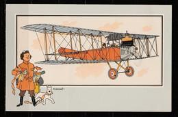 """TINTIN / Chromo """"Voir Et Savoir"""" Par Hergé : Aviation Origine à 1914 : N° 59 - Editions Du LOMBARD - Autres"""