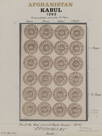 Afghanistan: 1876. 1293 First Post Office Issue, Issued In Kabul, Abasi Grey, Strip Of Three (Plate - Afghanistan
