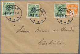 "Dänemark - Grönland: 1945, Proof Prints Refers To ""New York Print"", On Cardboard Paper, Without Gum, - Faroe Islands"