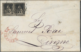 "Italien: 1865, De La Rue 15c. Azure (""celeste""), Typ III With Two Dots, WITHOUT SURCHARGE ""20c."", Fr - Toskana"