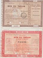 2 Bons Du Teésor 1951 Et 54 - Zonder Classificatie