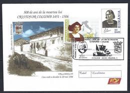 Roumania, 2006 Entier Postal Lettre Illustée +timbre Christophe Colomb - Entiers Postaux