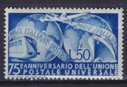 ITALY 1949, Mi# 772, CV €60, UPU, Train, MH - 1946-60: Mint/hinged