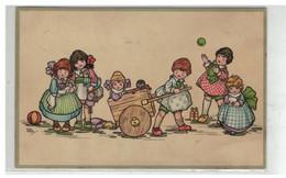 ILLUSTRATEUR MARSCH #17018 GROUPE D ENFANTS CHARIOT JOUET POUPEES - Other Illustrators
