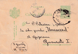 A8703 - ROMANIA POSTAL STATIONERY 1930 USED - Entiers Postaux