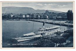 GINEVRA  GENEVE - DEBARCADERE - BATEAU  - CARTE POSTALE - CARTOLINA 1933 - GE Ginevra