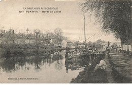 56 PONTIVY #21409 BORDS DU CANAL PENICHE PECHEUR PECHE - Pontivy