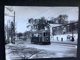 Photographie Originale De J.BAZIN Numérotée : Tramways De VERSAILLES : Gare Rive Gauche   En 1954 - Trains