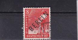 BERLIN 1948 SCHWARZAUFDRUCK 8 Pf/ Mi 3 O - Oblitérés