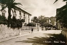 Cartolina - Levanto ( La Spezia ) - Corso Italia - 1957 - La Spezia
