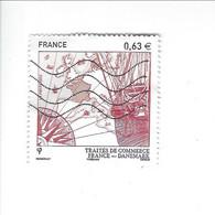 350ème Anniversaire Du Traité D'Amitié Et De Commerce Entre La France Et Le Danemark N° 4817 Oblitéré 2013 - Used Stamps